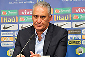 27th March 2018, Olympiastadion, Berlin, Germany; International Football Friendly, Germany versus Brazil; Coach Tite (Brazil) at the post game Press conference