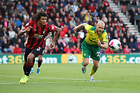 Nathan Aké of Bournemouth and Teemu Pukki of Norwich City both go after the ball during the Premier League match between Bournemouth and Norwich City at Goldsands Stadium on October 19th 2019 in Bournemouth, England. (Photo by Mick Kearns/phcimages.com)<br /> Foto PHC/Insidefoto <br /> ITALY ONLY