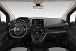 Stock photo of straight dashboard view of a 2020 Peugeot Partner Premium Long 4 Door Car van