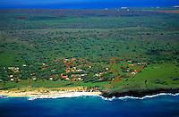 Aerial over Puuwai village, Niihau