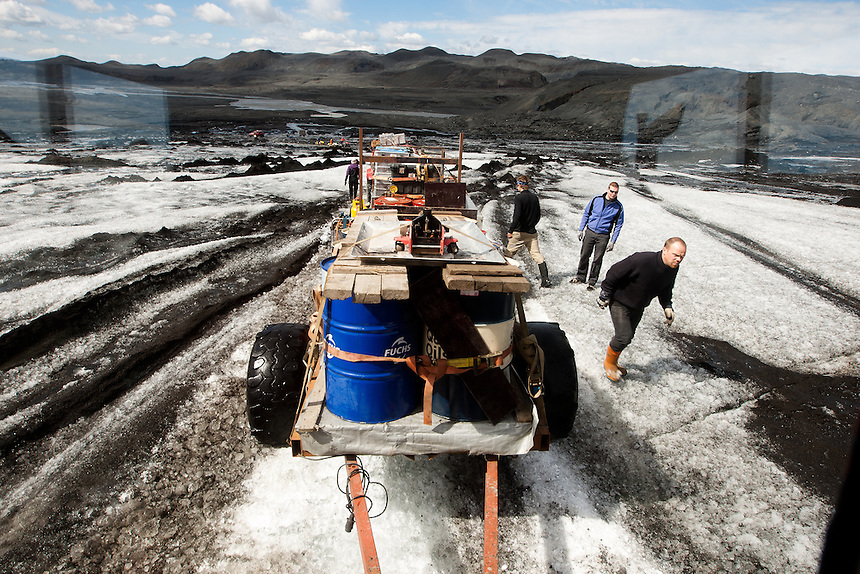 Part of the tasks is to transfer Disel oil to the main base where other scientific expeditions will pick it up.