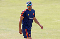 Sir Alastair Cook of Essex leaves the field following the warm-up prior to  Essex CCC vs Surrey CCC, Bob Willis Trophy Cricket at The Cloudfm County Ground on 9th August 2020