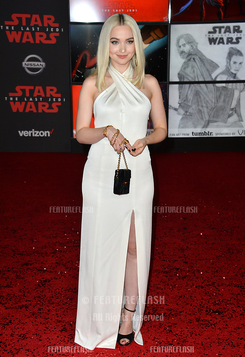 "Dove Cameron at the world premiere for ""Star Wars: The Last Jedi"" at the Shrine Auditorium. Los Angeles, USA 09 December  2017<br /> Picture: Paul Smith/Featureflash/SilverHub 0208 004 5359 sales@silverhubmedia.com"