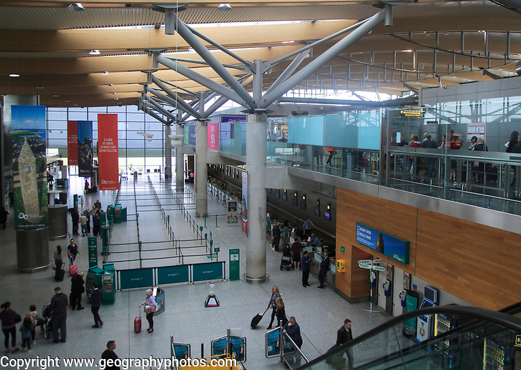 Interior of Cork airport terminal building, County Cork, Ireland, Irish Republic
