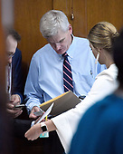 "United States Senator Bill Cassidy (Republican of Louisiana) goes over his notes in a back room prior to the start of the US Senate Committee on Finance ""Hearing to Consider the Graham-Cassidy-Heller-Johnson Proposal"" on the repeal and replace of the Affordable Care Act (ACA) also known as ""ObamaCare"" in Washington, DC on Monday, September 25, 2017.<br /> Credit: Ron Sachs / CNP"