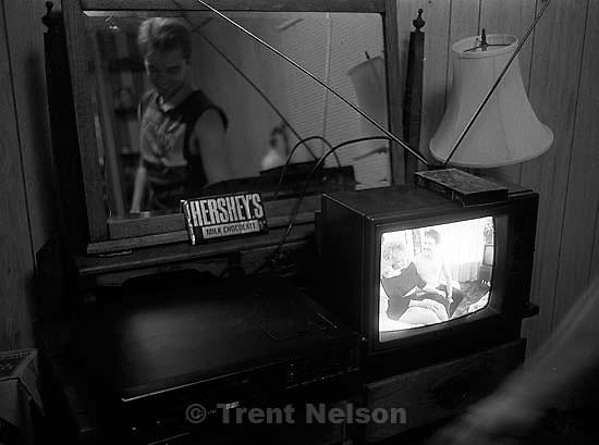 Ted Hansen watching a video I found.<br />