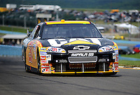 Aug. 8, 2009; Watkins Glen, NY, USA; NASCAR Sprint Cup Series driver Jeff Burton during practice for the Heluva Good at the Glen. Mandatory Credit: Mark J. Rebilas-