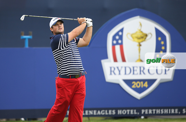 Patrick Reed (USA) during Sunday's Singles at the 2014 Ryder Cup from Gleneagles, Perthshire, Scotland. Picture:  David Lloyd / www.golffile.ie
