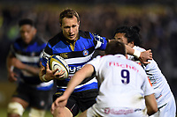 Jack Wilson of Bath Rugby takes on the Leicester Tigers defence. Anglo-Welsh Cup match, between Bath Rugby and Leicester Tigers on November 10, 2017 at the Recreation Ground in Bath, England. Photo by: Patrick Khachfe / Onside Images