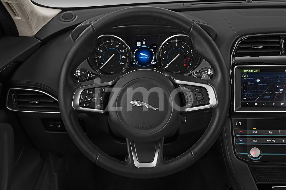 Car pictures of steering wheel view of a 2020 Jaguar F-Pace Prestige 5 Door SUV Steering Wheel