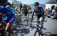 Wout Poels (NLD/SKY) up the infamous Mur de Huy (1300m/9.8%)<br /> <br /> 79th Fl&egrave;che Wallonne 2015