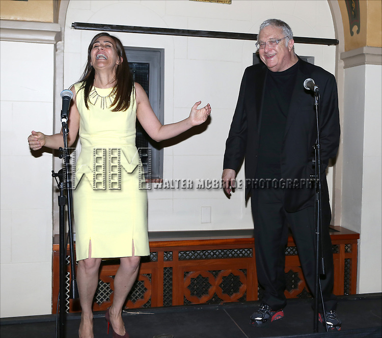 Jeanine Tesori and Randy Newman attends the after performance party for the New York City Center Encores! Off-Center production of 'Randy Newman's FAUST' - The Concert at City Center on July 1, 2014 in New York City.
