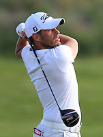 Jose-Filipe Lima (POR) on the 10th tee during Round 1 of the Challenge de Madrid, a Challenge  Tour event in El Encin Golf Club, Madrid on Wednesday 22nd April 2015.<br /> Picture:  Thos Caffrey / www.golffile.ie