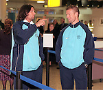 Marco Negri and Arthur Numan at Glasgow airport