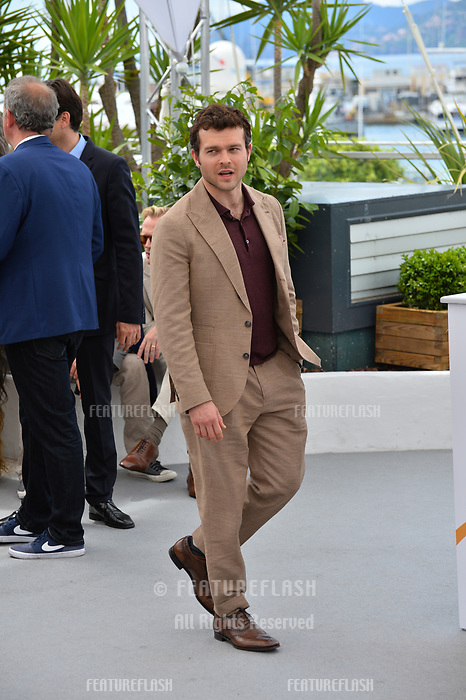 Alden Ehrenreich at the photocall for &quot;Solo: A Star Wars Story&quot; at the 71st Festival de Cannes, Cannes, France 15 May 2018<br /> Picture: Paul Smith/Featureflash/SilverHub 0208 004 5359 sales@silverhubmedia.com