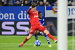 11.12.2018, VELTINS Arena, Gelsenkirchen, Deutschland, GER, UEFA Champions League, Gruppenphase, Gruppe D, FC Schalke 04 vs. FC Lokomotiv Moskva / Moskau<br /> <br /> DFL REGULATIONS PROHIBIT ANY USE OF PHOTOGRAPHS AS IMAGE SEQUENCES AND/OR QUASI-VIDEO.<br /> <br /> im Bild Zweikampf zwischen Aleksei Miranchuk (#59 Moskau) und Abdul Rahman Baba (#14 Schalke)<br /> <br /> Foto © nordphoto / Kurth