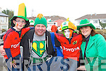 Gearoid, PJ, Diarmuid and Denise O'Connor Killarney at the Killarney St Patricks day parade on Monday