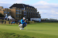 Bernd Wiesberger (AUT) on the 17th green during Round 3 of the Alfred Dunhill Links Championship 2019 at St. Andrews Golf CLub, Fife, Scotland. 28/09/2019.<br /> Picture Thos Caffrey / Golffile.ie<br /> <br /> All photo usage must carry mandatory copyright credit (© Golffile | Thos Caffrey)