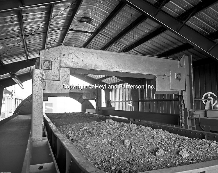 Client: Heyl and Patterson Company<br /> Ad Agency: Heyl and Patterson Marketing<br /> Product: Coal Handling and Processing Equipment<br /> Location: New Florence PA:<br /> <br /> Rotary car dumper ready to turnover railroad coal car at the Conemaugh Power Plant. Client: Heyl and Patterson Company<br /> Ad Agency: Heyl and Patterson Marketing<br /> Product: Coal Handling and Processing Equipment<br /> Location: New Florence PA:<br /> <br /> Rotary car dumper is ready to turn railroad car with coal at the Conemaugh Power Plant. Founded in 1887, Heyl &amp; Patterson is a leader in the design and construction of bulk transfer and thermal processing equipment for customers in a wide range of industries, including chemical, steel, biomass, energy, ports, and mining &amp; minerals.