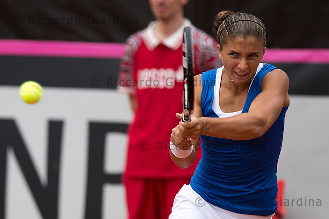 Sara ERRANI (ITA) | FED CUP 2013, World Group Semifinals :: ITA vs CZE :: 1st day - Apr, 20th 2013.