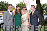 T.J. Maunsell, Niamh Leen, Alannah Maunsell, Cathal Kearney enjoying the Causeway Comprehensive Debs on Thursday at the Brandon Hotel