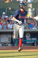 Salem Red Sox infielder C.J. Chatham (22) at bat during a game against the Myrtle Beach Pelicans at Ticketreturn.com Field at Pelicans Ballpark on June 8, 2018 in Myrtle Beach, South Carolina. Myrtle Beach defeated Salem 5-4. (Robert Gurganus/Four Seam Images)