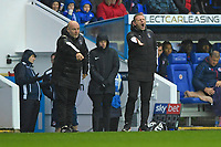 Luton Town Manager Graeme Jones makes a point on the sideline during Reading vs Luton Town, Sky Bet EFL Championship Football at the Madejski Stadium on 9th November 2019