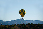 HOT AIR BALLOON OVER ARIZONA MOUNTAINS