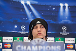 Chelsea's David Luiz during a press conference ahead of Tuesday's Champions League, semifinal, first leg, soccer match against Atletico Madrid, at the Vicente Calderon stadium, in Madrid, Spain, April 21, 2014. (ALTERPHOTOS/Victor Blanco)