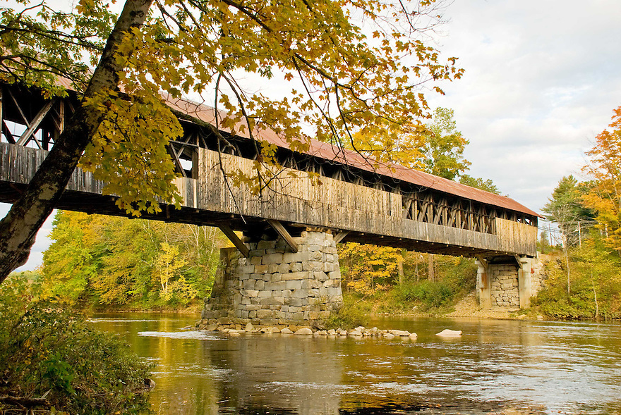 The Blair Covered Bridge spanning the Pemigewasset River.