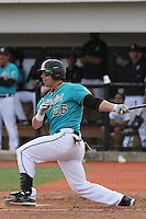 Daniel Bowman #26 of the Coastal Carolina University Chanticleers hitting in a game against the University of Michigan Wolverines at the Carvelle Resort Classic Tournament held at Watson Stadium at Vrooman Field in Conway,, SC on March 13, 2010. Photo by Robert Gurganus/Four Seam Images