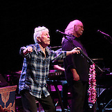 Graham Nash rockin' out! David Crosby and  Graham Nash  at the Neal S. Blaisdell Center in Honolulu, HI, with James Raymond on keyboards and Shane Fontayne on lead guitar.