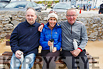 Paul Pendergast, Mags O'Sullivan and Joe Sheehy having a cuppa at the Wild Mind Festival on Sunday.