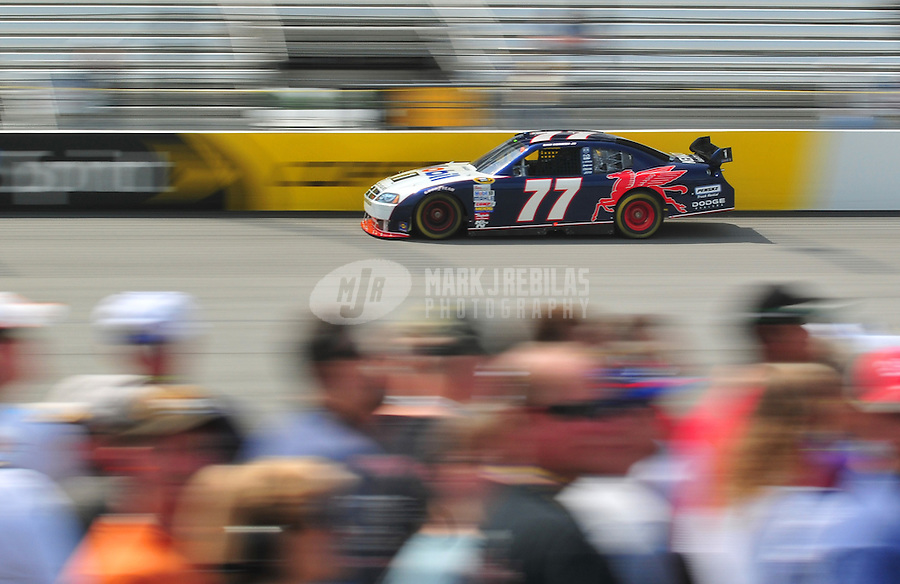 May 2, 2008; Richmond, VA, USA; NASCAR Sprint Cup Series driver Sam Hornish Jr during practice for the Dan Lowry 400 at the Richmond International Raceway. Mandatory Credit: Mark J. Rebilas-