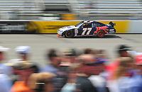 May 2, 2008; Richmond, VA, USA; NASCAR Sprint Cup Series driver Sam Hornish Jr during practice for the Dan Lowry 400 at the Richmond International Raceway. Mandatory Credit: Mark J. Rebilas-