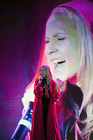 "Moscow, Russia, 25/09/2010..Russian competitor Julia Kurileva performs Pink Floyd's ""The Great Gig In The Sky"" in the finals of the Karaoke World Championships 2010, where amateur singers from around the world competed for prizes that included one million Russian dumplings."