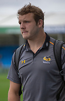 Wasps' Joe Launchbury arrives at the ground<br /> <br /> Photographer Bob Bradford/CameraSport<br /> <br /> Gallagher Premiership - Exeter Chiefs v Wasps - Sunday 14th April 2019 - Sandy Park - Exeter<br /> <br /> World Copyright &copy; 2019 CameraSport. All rights reserved. 43 Linden Ave. Countesthorpe. Leicester. England. LE8 5PG - Tel: +44 (0) 116 277 4147 - admin@camerasport.com - www.camerasport.com