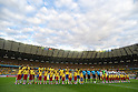 Two team group line-up,<br /> JULY 8, 2014 - Football / Soccer : FIFA World Cup 2014 semi-finals match between Brazil 1-7 Germany at Mineirao stadium in Belo Horizonte, Brazil.<br /> (Photo by FAR EAST PRESS/AFLO)