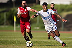 Bruno da Silva Sabino R&F F.C (R) in action against Marc Martinez of Kwoon Chung Southern (L) during the week three Premier League match between Kwoon Chung Southern and R&F at Aberdeen Sports Ground on September 16, 2017 in Hong Kong, China. Photo by Marcio Rodrigo Machado / Power Sport Images