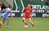 Portland, Oregon - Wednesday June 22, 2016: Portland Thorns FC midfielder Lindsey Horan (7) during a regular season National Women's Soccer League (NWSL) match at Providence Park.