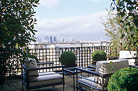 The roof garden has panoramic views of the city of Paris