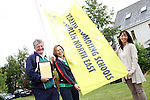 Principal Ambrose McGinnity with Breda O'Connell and Antoinette Hassett, Senior Health Promotion Officer from HSE Dublin North East at the Raising of the New Health Awareness Initiative Flag at Callystown National School, Clogherhead...(Photo credit should read Jenny Matthews www.newsfile.ie)....This Picture has been sent you under the conditions enclosed by:.Newsfile Ltd..The Studio,.Millmount Abbey,.Drogheda,.Co Meath..Ireland..Tel: +353(0)41-9871240.Fax: +353(0)41-9871260.GSM: +353(0)86-2500958.email: pictures@newsfile.ie.www.newsfile.ie.