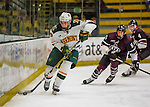 18 December 2016: University of Vermont Catamount Forward Brian Bowen, a Sophomore from Littleton, MA, in second period action against the Union College Dutchmen at Gutterson Fieldhouse in Burlington, Vermont. The Catamounts fell to their former ECAC hockey rivals 2-1, as the Dutchmen sweep the two-game weekend series. Mandatory Credit: Ed Wolfstein Photo *** RAW (NEF) Image File Available ***