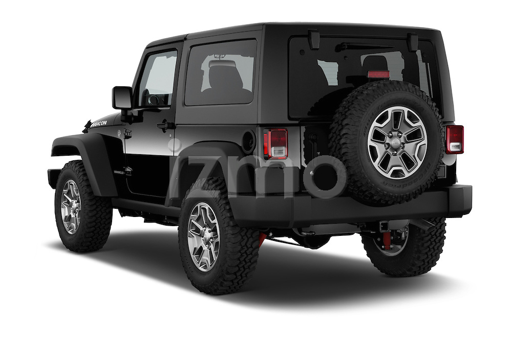 Car pictures of rear three quarter view of a 2015 JEEP Wrangler Rubicon 3 Door Suv 4WD Angular Rear