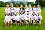 The Scoil Realt na Mara team that played in the Cumann na mbunscoil final in Beaufort on Thursday <br /> <br /> Clodagh O' Dwyer, Maddie Courtney, Cliona O'Shea, Sarah Murphy, Sophie O'Sullivan, Aoife Cronin, Michaela Huggard, Back row: Lauren Curran, Leanne O'Sullivan, Aoife O'Dwyer, Joanie Curran, Leo O'Dwyer, Lucy Higgins, Emma Foran, Aoibhin Walsh