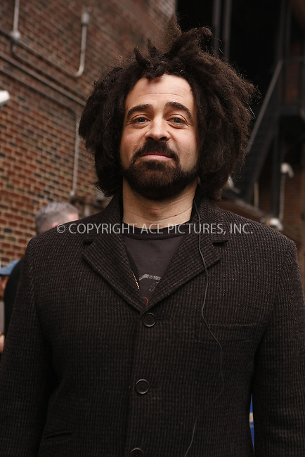 WWW.ACEPIXS.COM . . . . .  ....March 24 2008, New York City....Musician Adam Duritz of the Counting Crows appeared on the 'Late Show with David Letterman' at the Ed Sullivan Theatre in midtown Manhattan....Please byline: AJ Sokalner - ACEPIXS.COM..... *** ***..Ace Pictures, Inc:  ..te: (646) 769 0430..e-mail: info@acepixs.com..web: http://www.acepixs.com