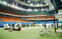 Moskou, Russia, Februari 4, 2016,  Fed Cup Russia-Netherlands,  Public area is being precaire<br /> Photo: Tennisimages/Henk Koster