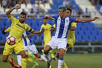 Leganes'es Martín Mantovani and Villarreal's Mario Gaspar during the XXXVII trophy of Legane's City between CD Leganes and Villarreal CF at Butarque Stadium. August 13, 2016. (ALTERPHOTOS/Rodrigo Jimenez) /NORTEPHOTO