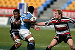 Waka Setitaia & James Maher tackle Solo Korovata. Air NZ Cup week 4 game between the Counties Manukau Steelers and Northland played at Mt Smart Stadium on the 19th of August 2006. Northland won 21 - 17.