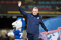 Paul Lambert, Manager of Ipswich Town acknowledges the home crowd during Ipswich Town vs Accrington Stanley, Sky Bet EFL League 1 Football at Portman Road on 11th January 2020